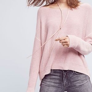 Moth Fairview Pink Slouchy Scoop Neck Sweater